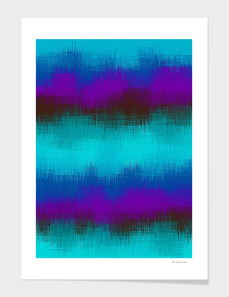 vintage painting abstract texture in green blue purple