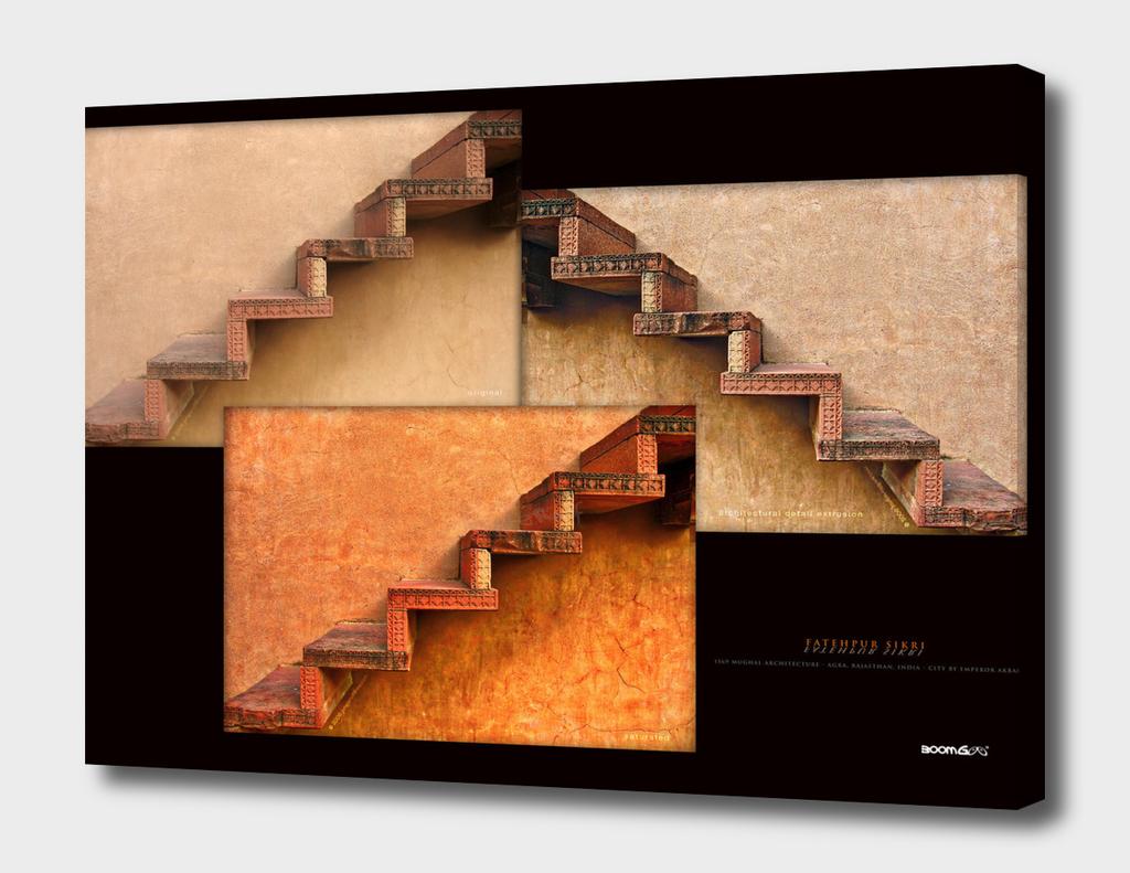 BoomGoo's Fatehpur Sikri stairs (3 tones)
