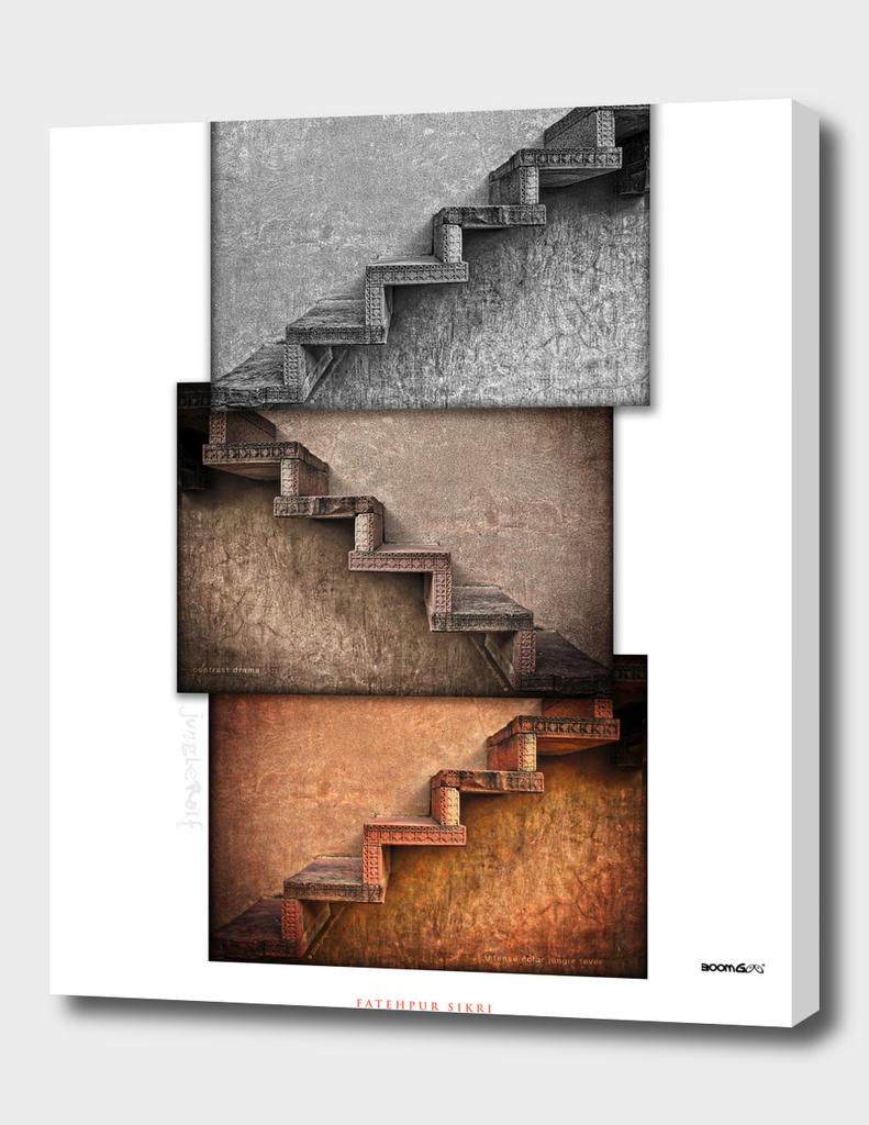 BoomGoo's Fatehpur Sikri stairs (3 tones II)
