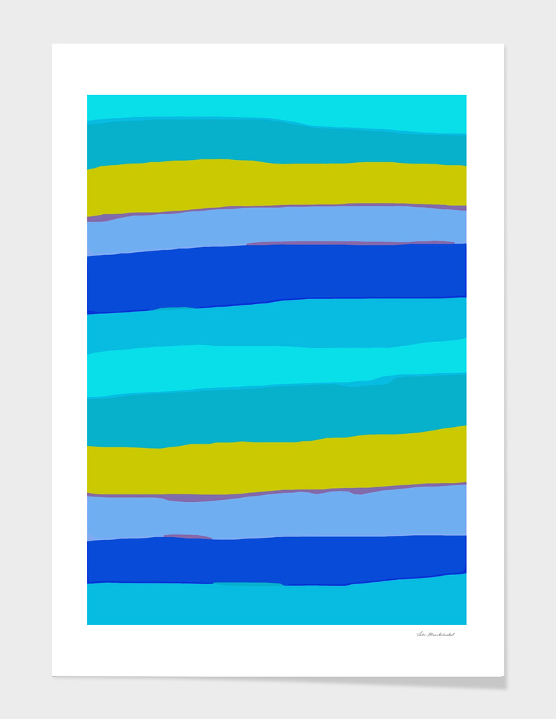 line pattern abstract in blue green yellow