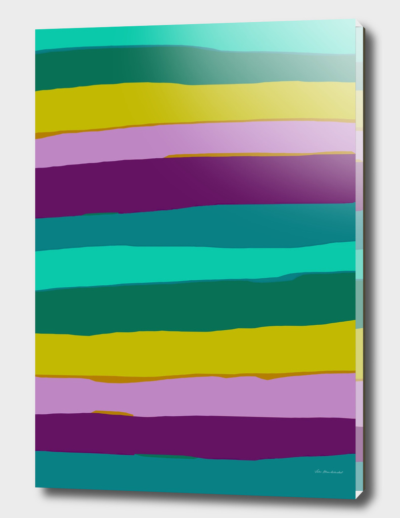 line pattern abstract in green pink purple yellow