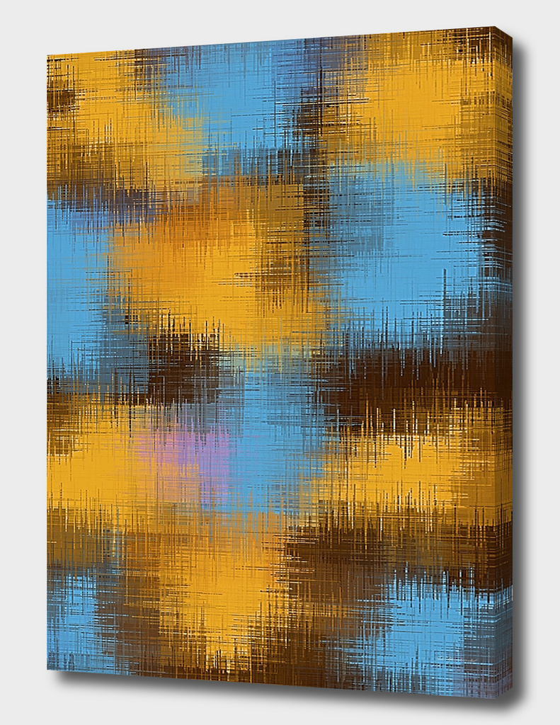 vintage painting texture abstract in brown yellow and blue