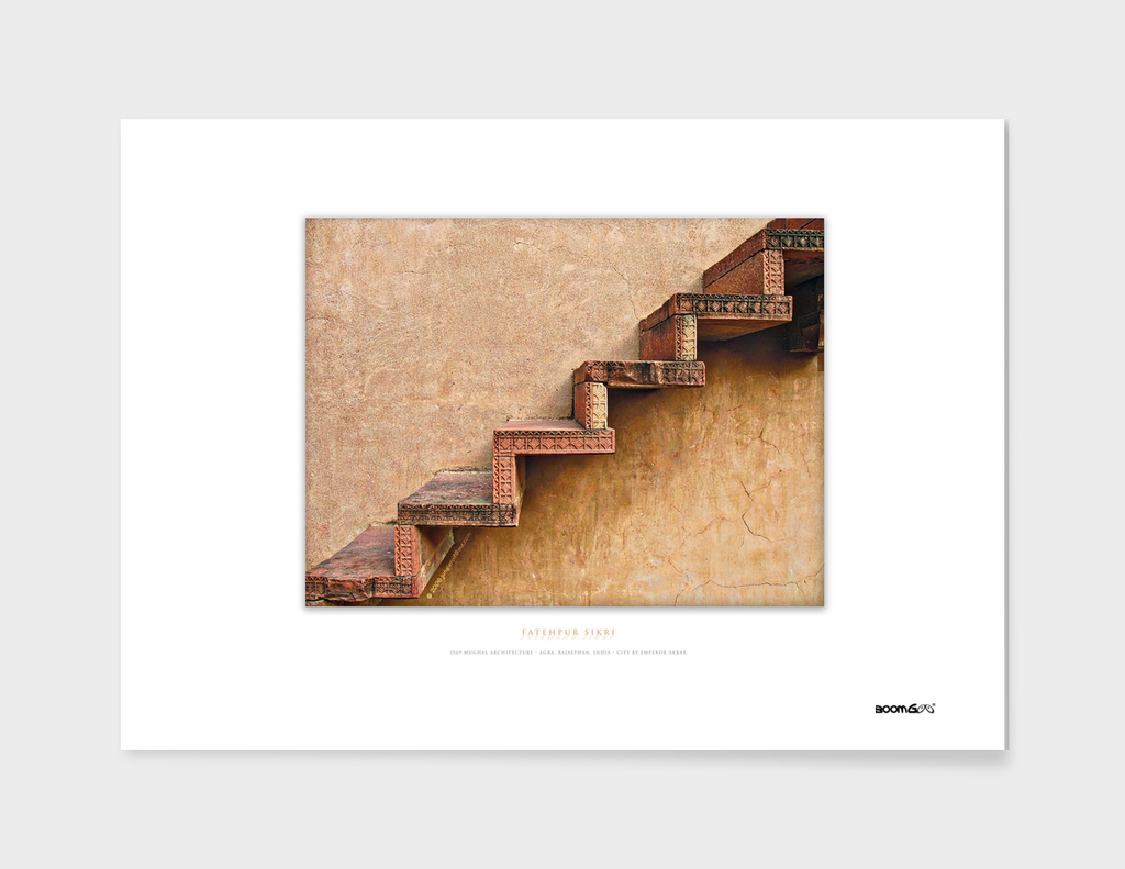 BoomGoo's Fatehpur Sikri stairs (intensified detail)
