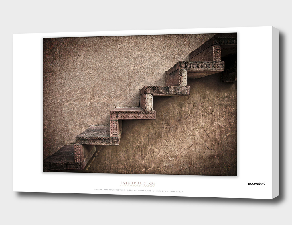 BoomGoo's Fatehpur Sikri stairs (brown contrast)