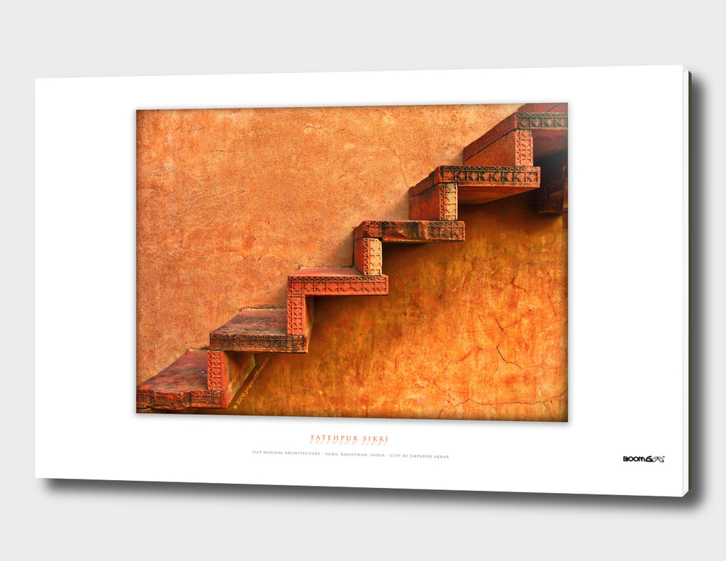 BoomGoo's Fatehpur Sikri stairs (saturated)