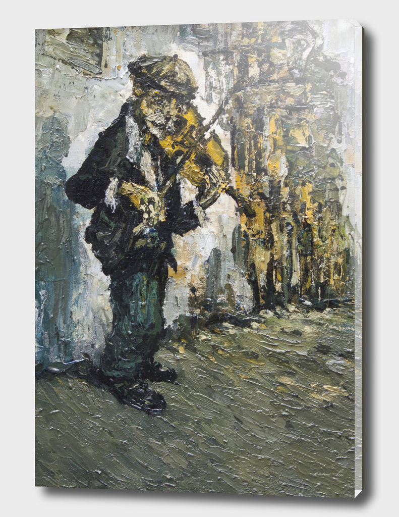 street musician with violine #2