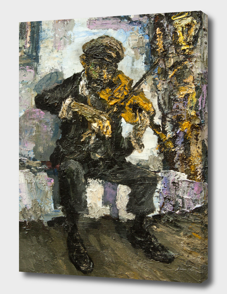 street musician with violine