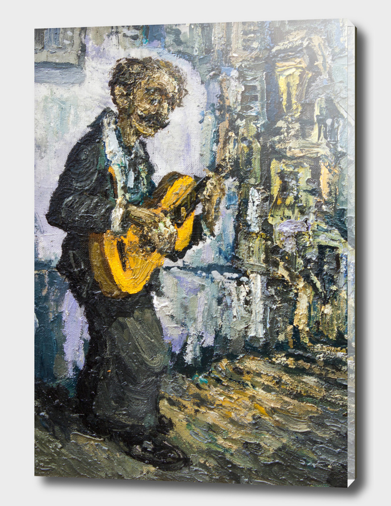 street musician with guitar @