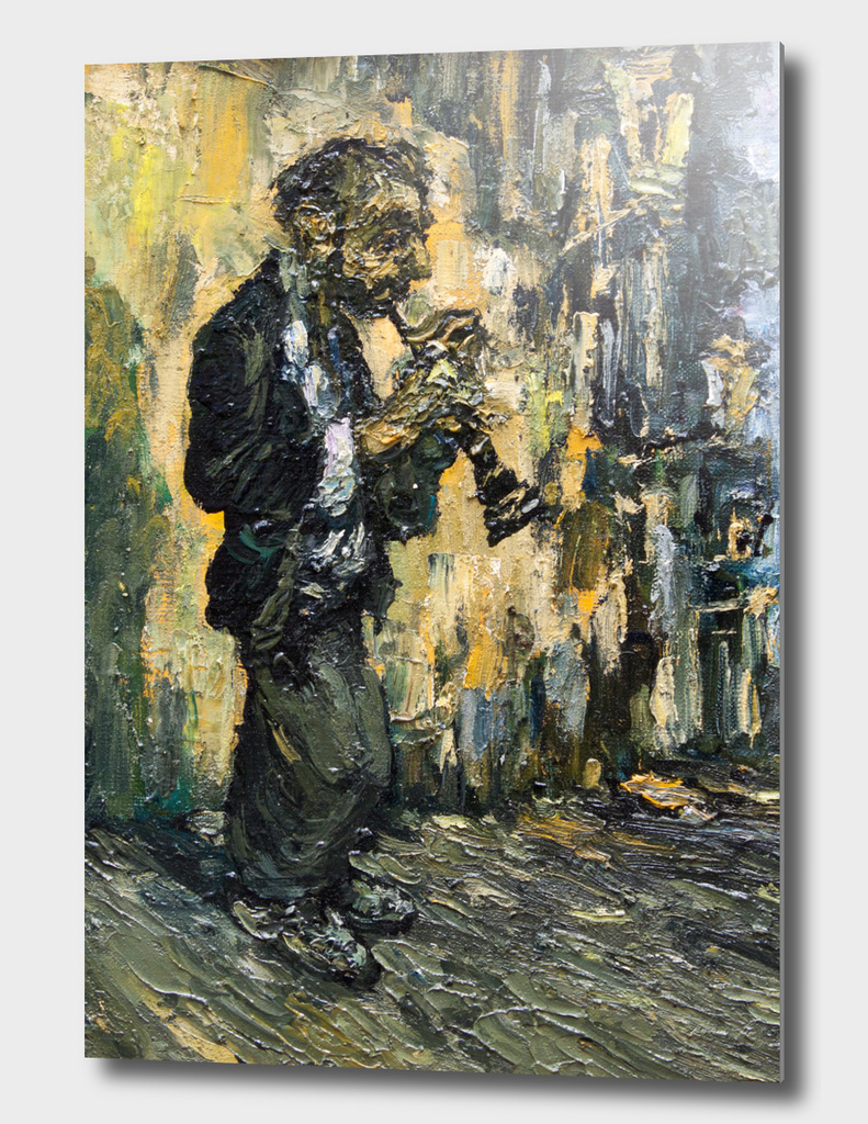 street musician with clarinet