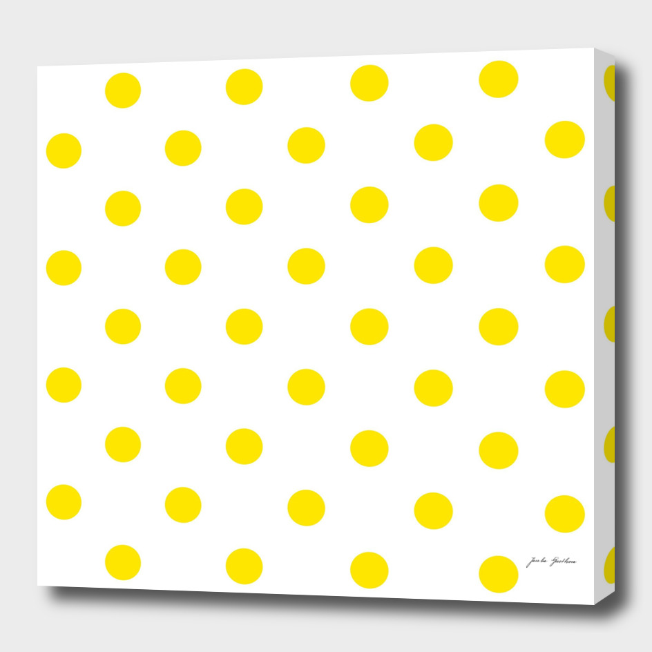 Fresh yellow dots : New art in shop