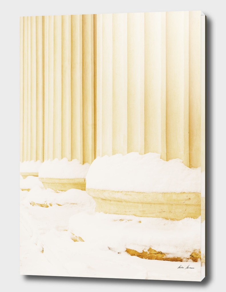 Composite Greek Style Columns In Winter