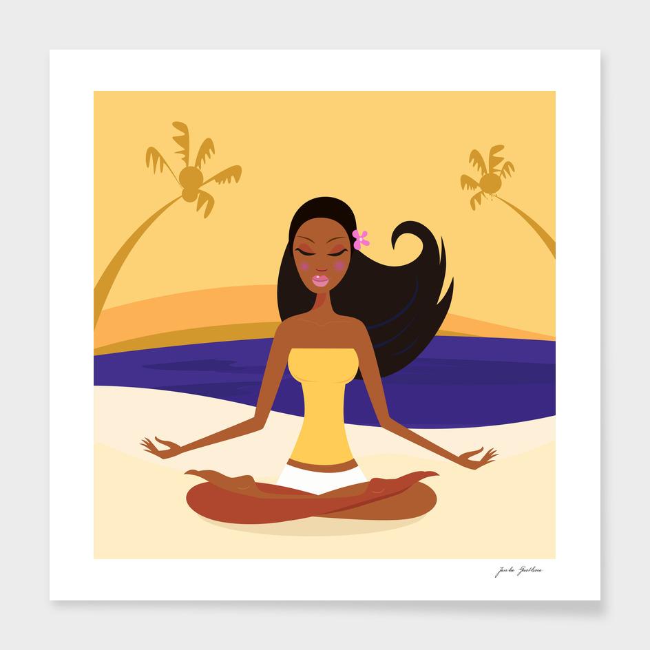 Relaxing wellness girl : PORTRAIT