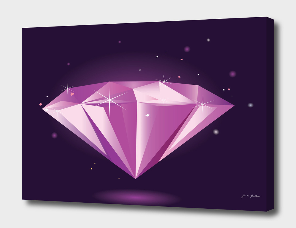 Diamond hand drawn Luxury Art