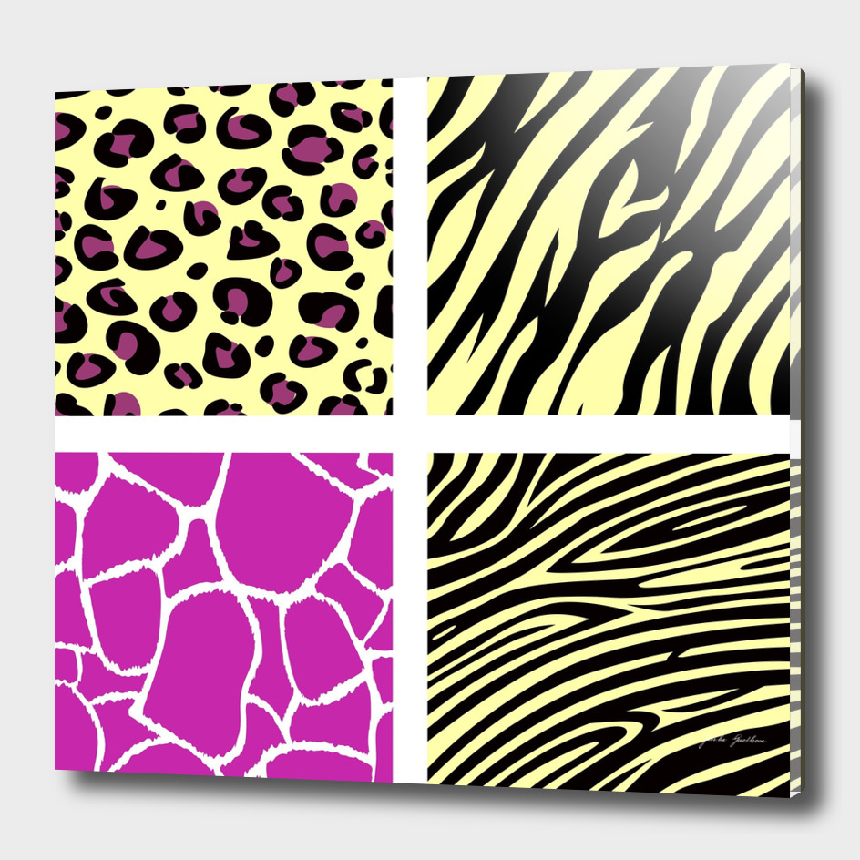 Tiger and jaguar stylish Pattern