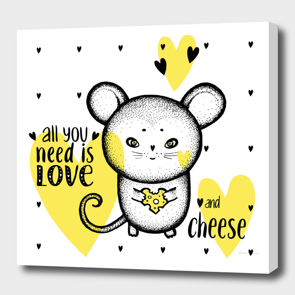 Mouse Love Cheese