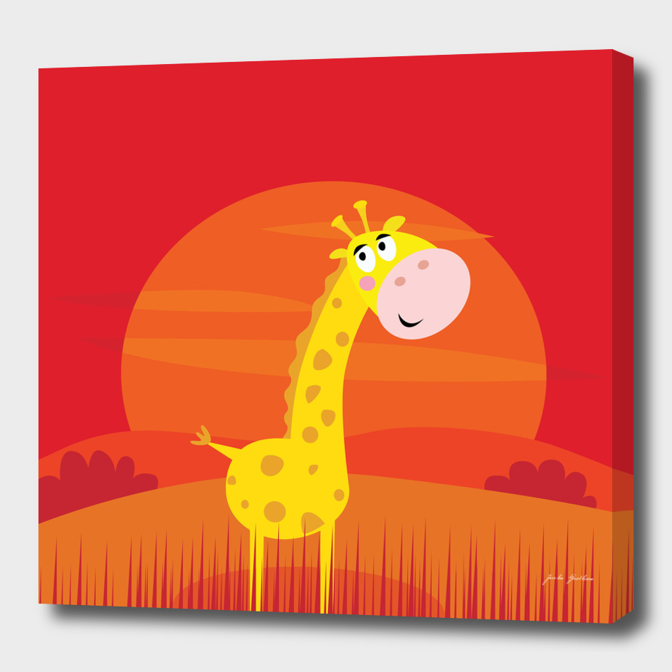 Red stylish giraffe : New art in shop