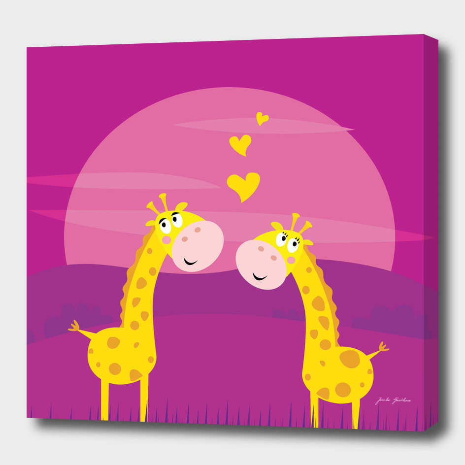 2 giraffe in LOVE : Original art