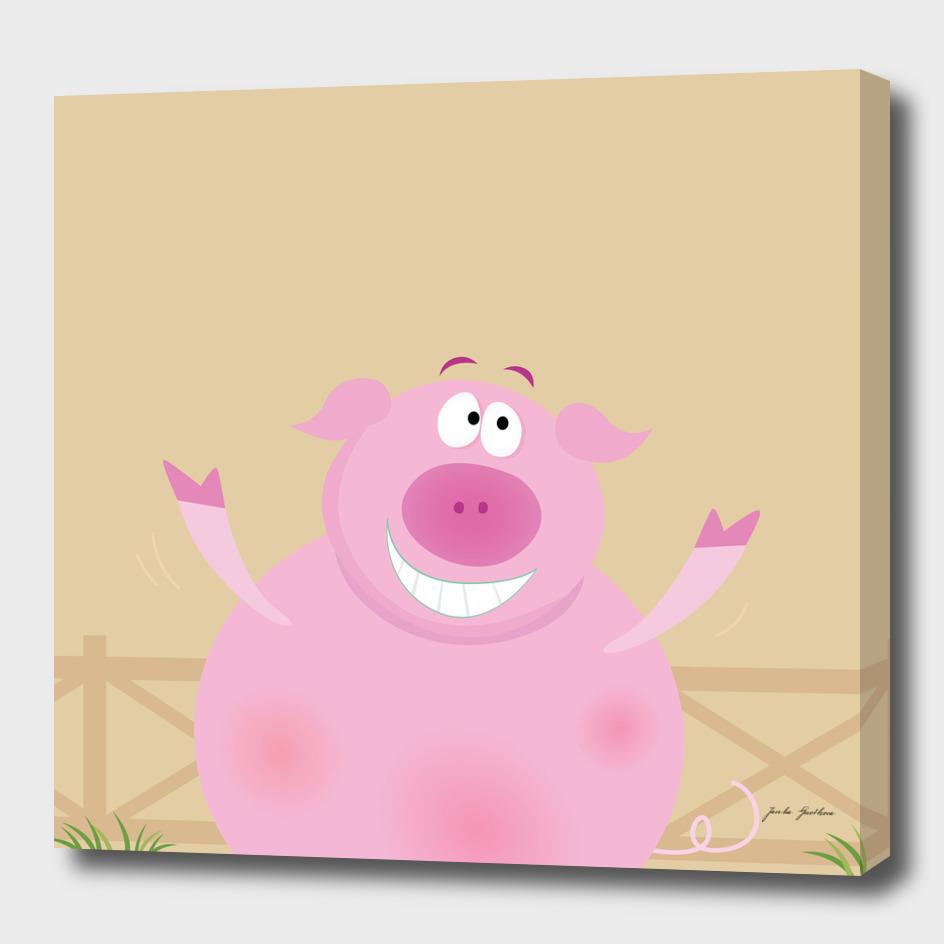 Little pig cute design : Pink!