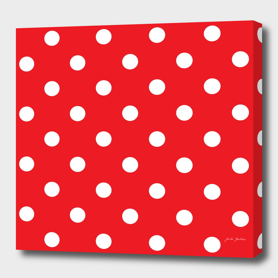 Luxury design : FOLK red and white Dots