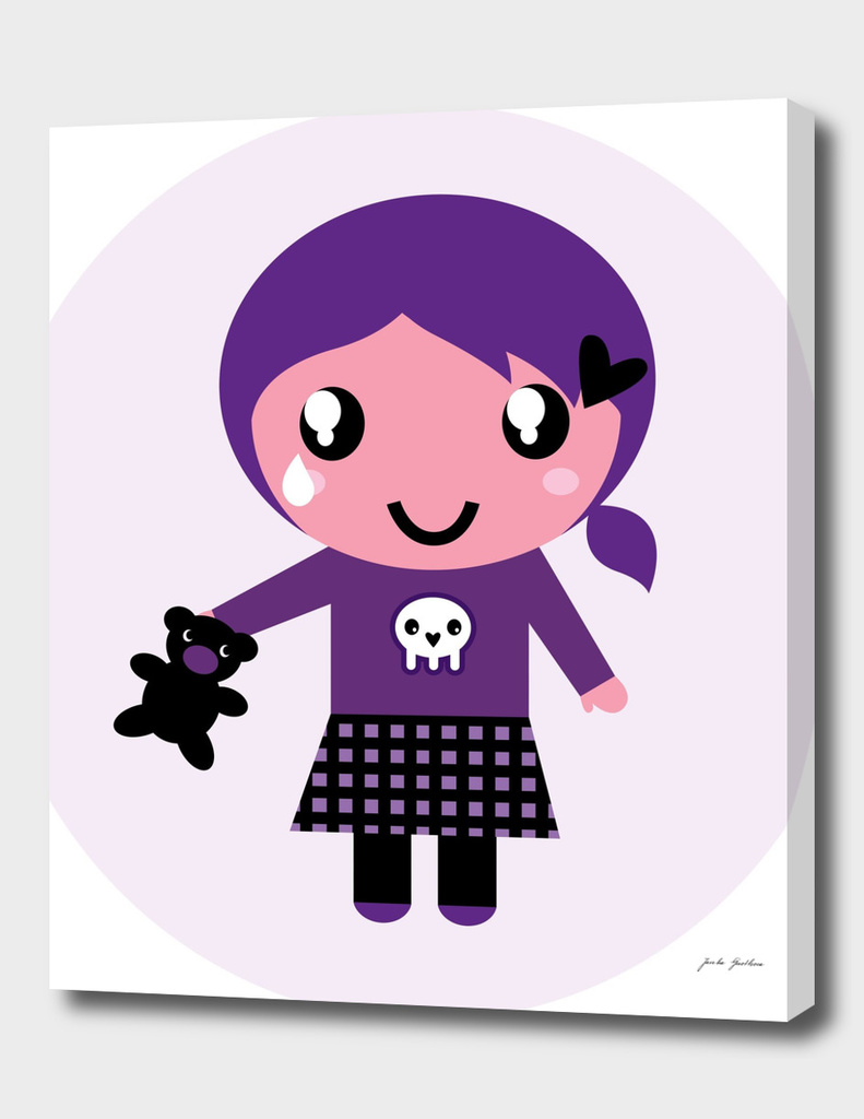 New EMO artwork in shop : purple character