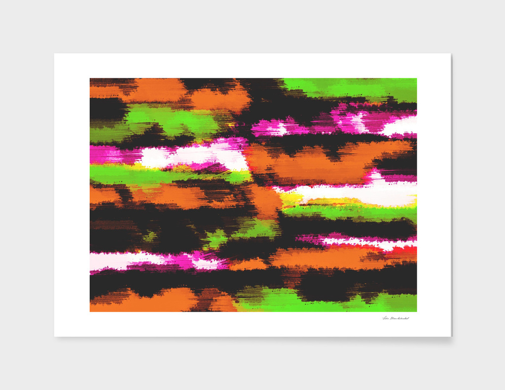 orange green pink black painting texture abstract background