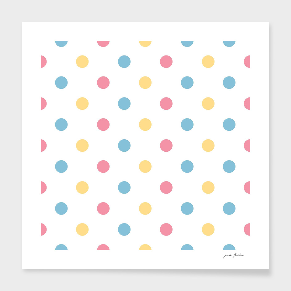 Fresh 60s dots on white : new art in Shop