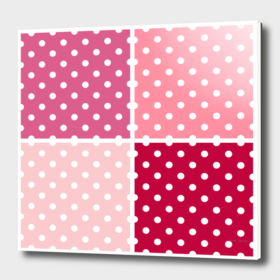 Folk dots design : 70s inspired Art