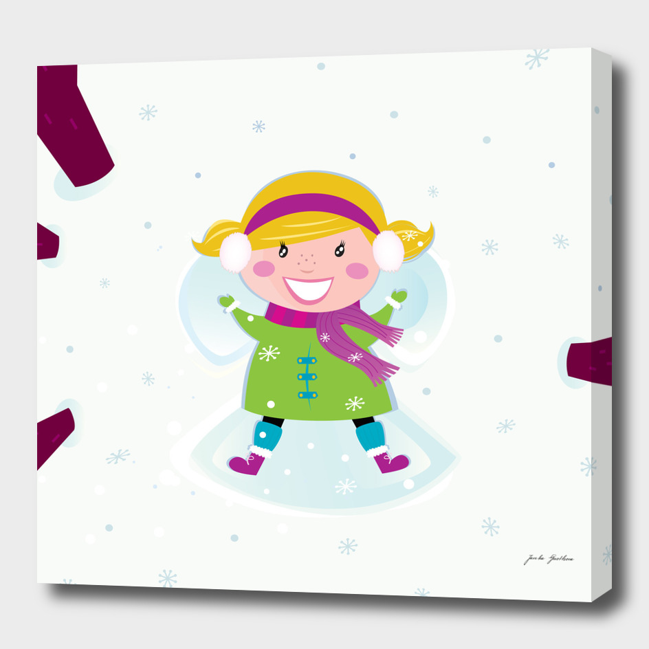 Little girl angel : in snow Collection