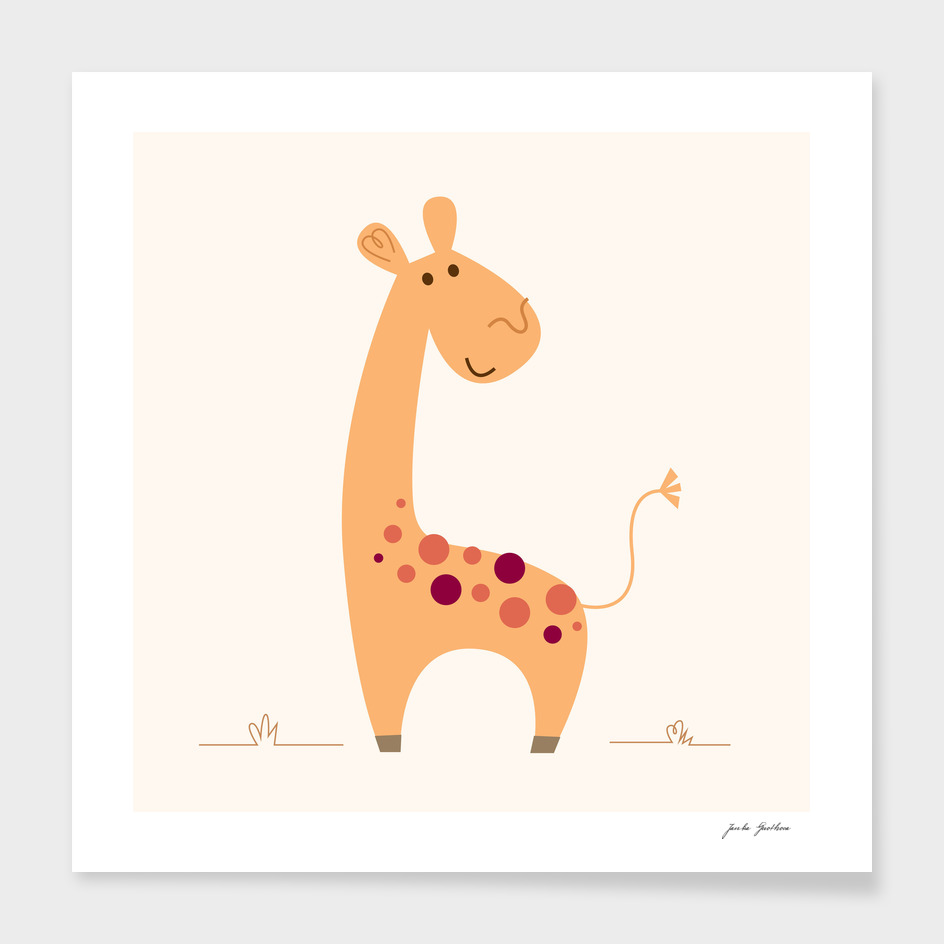 Yellow giraffe : New art in creative shop