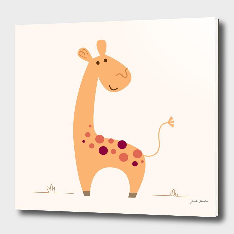 Yellow giraffe : New art in creative shop