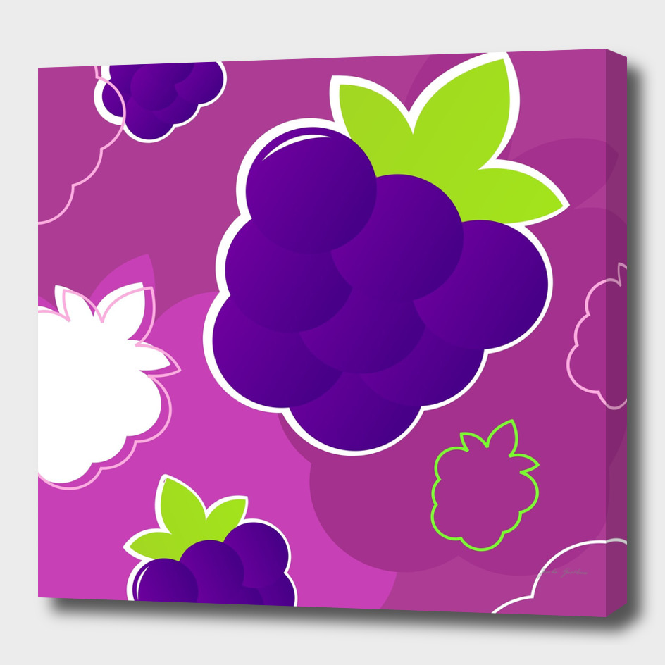 Purple berry art collection : Inspired with lineart