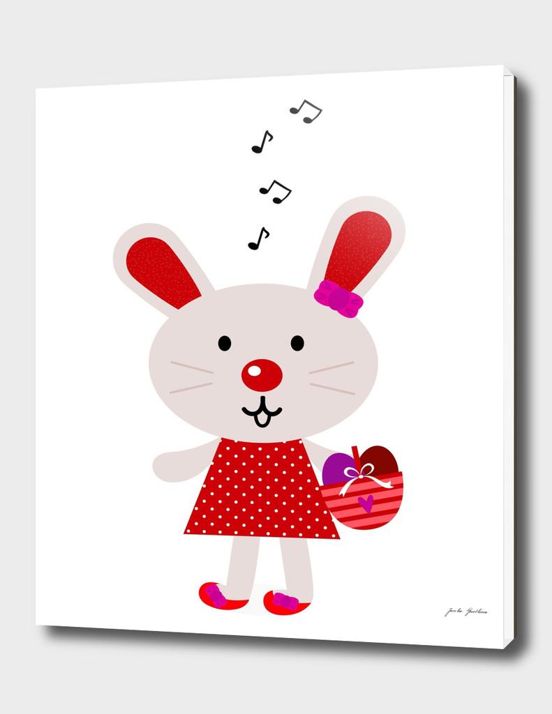 Cute handdrawn stylish Bunny