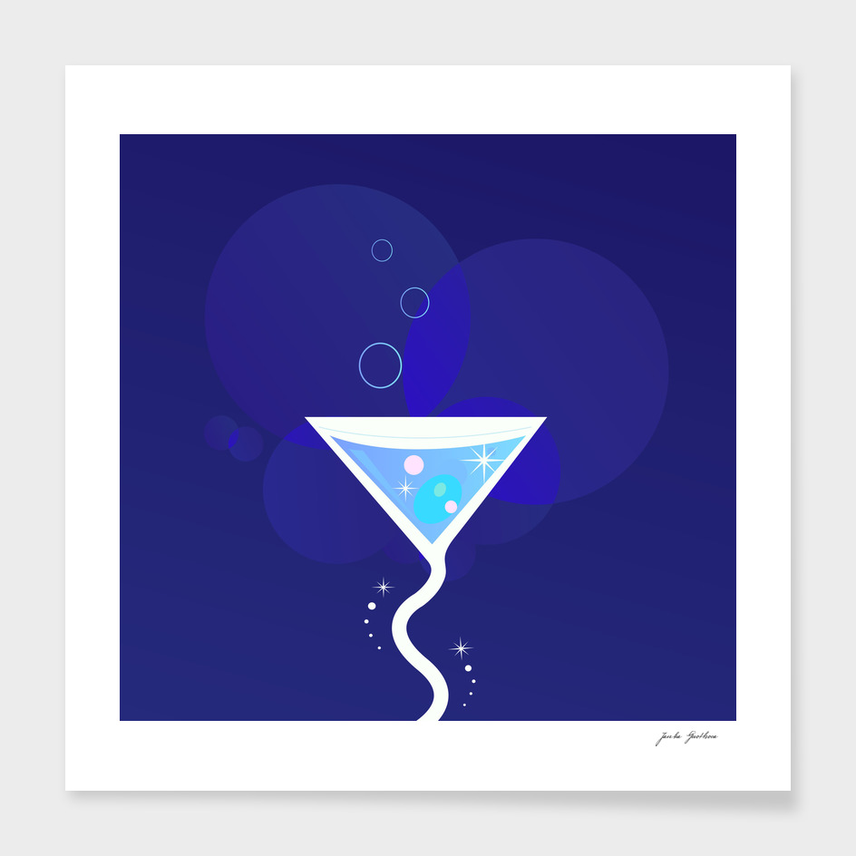 "Stylish ""night"" Cocktail / blue Edition"