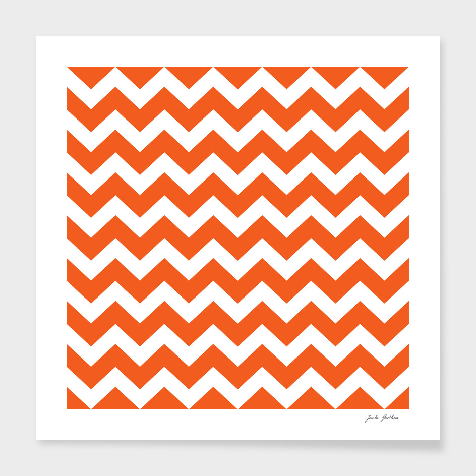 Stylish vintage design canvas zig zag Orange