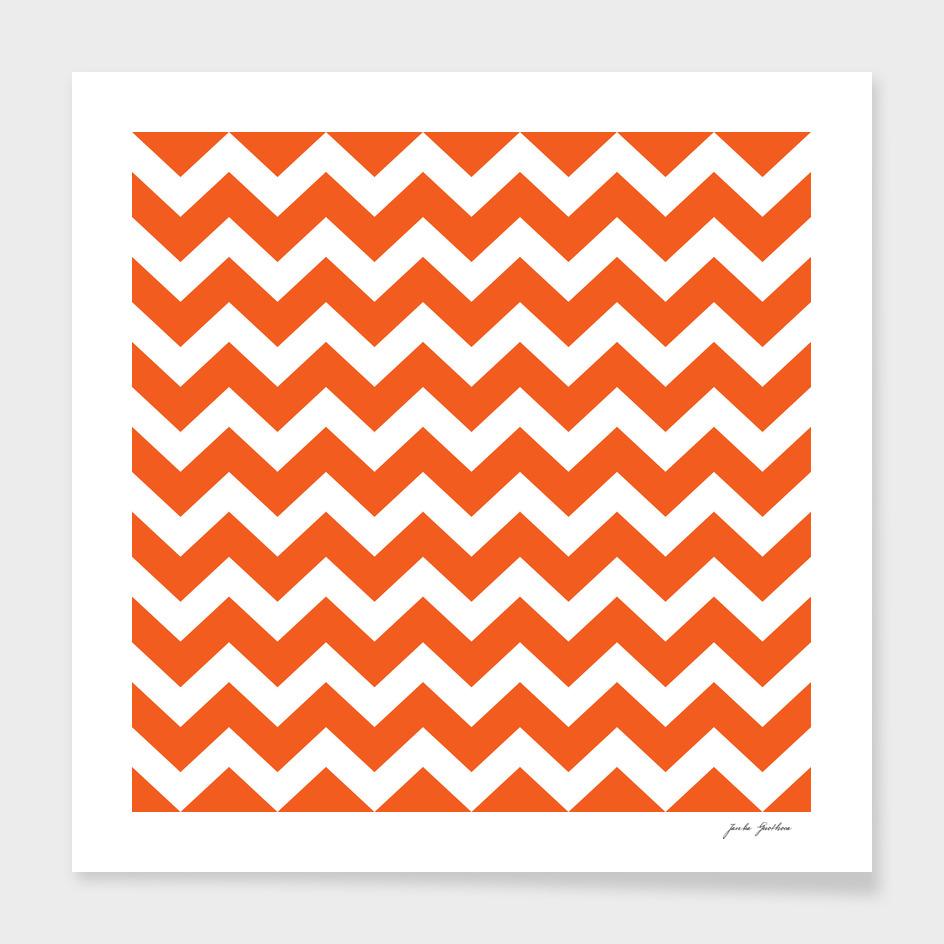 Stylish vintage design canvas zig zag Orange