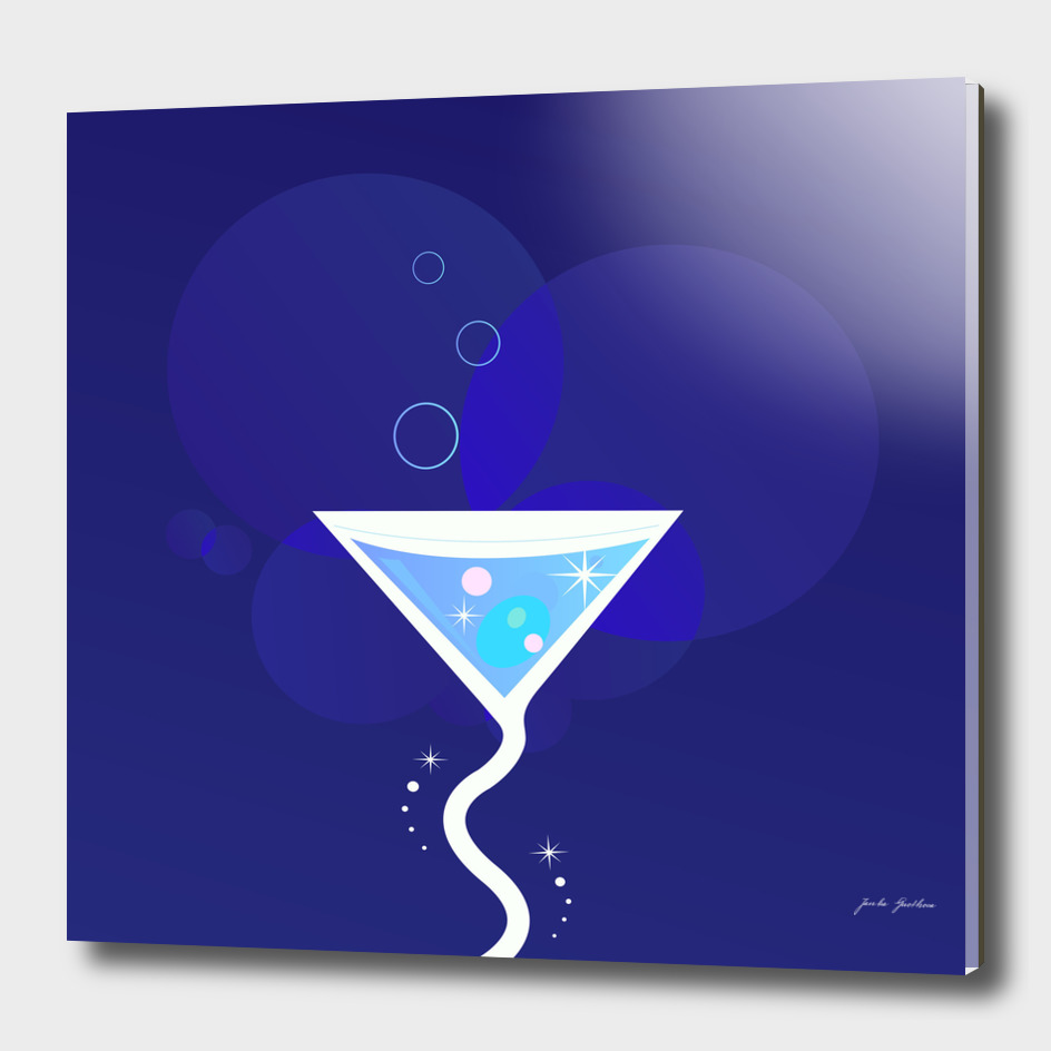 New cocktail in shop : blue with Olive