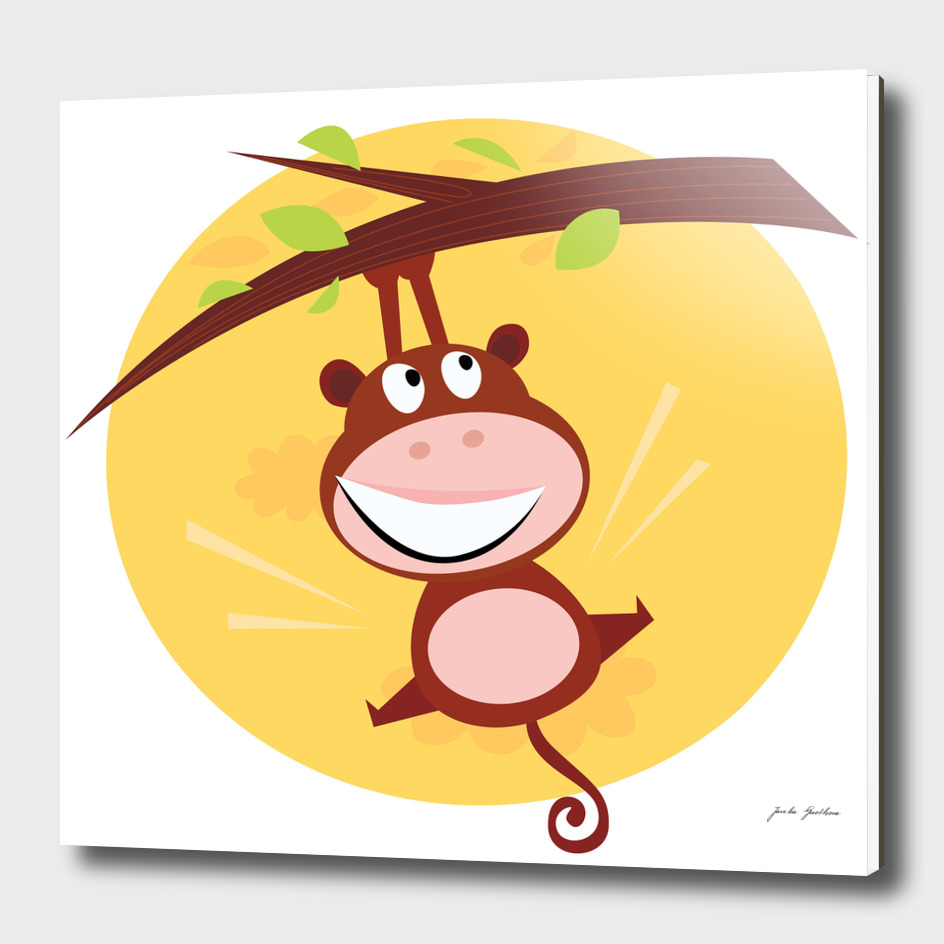 New jumping Monkey in shop : brown art