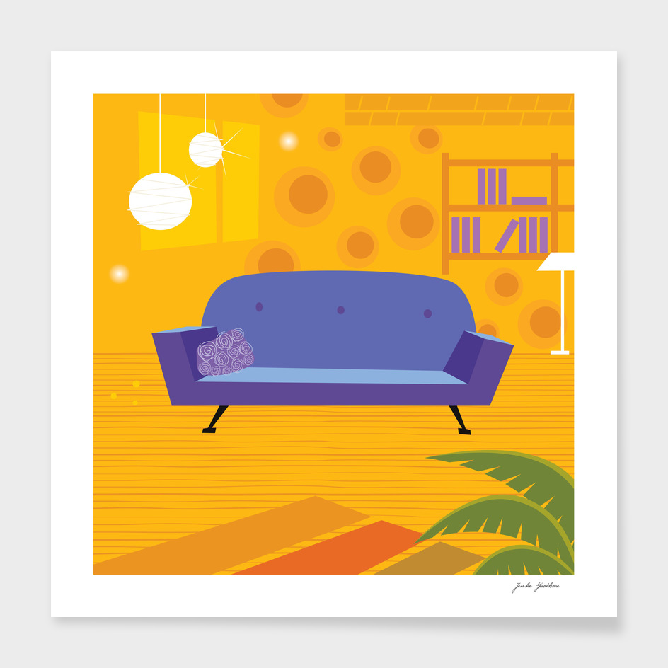Living room collection : vintage artwork