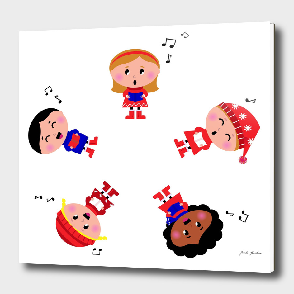 5 little creative singing Kids