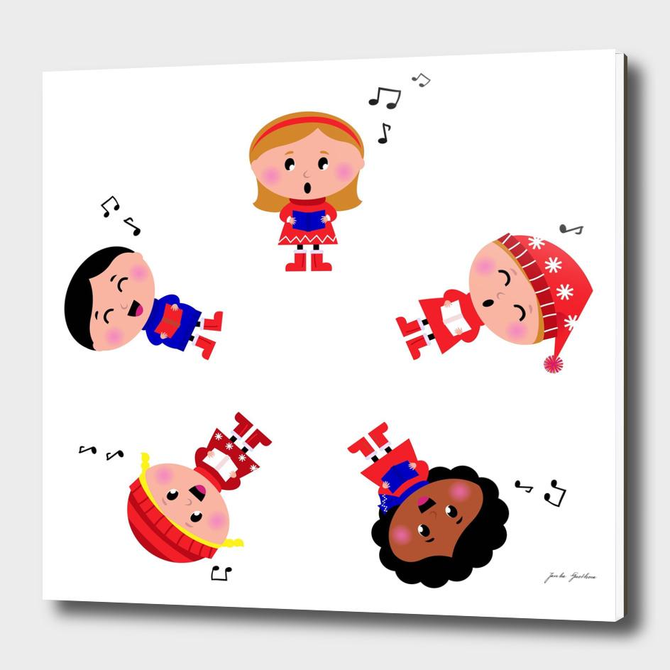 5 little creative singing Kids