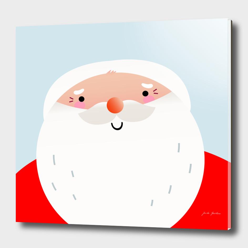 New happy santa : red smiling Character