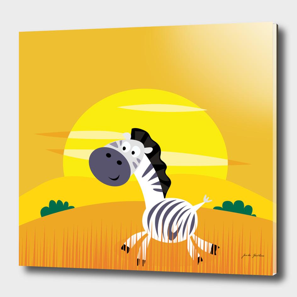 Safari collection : yellow, grey and black