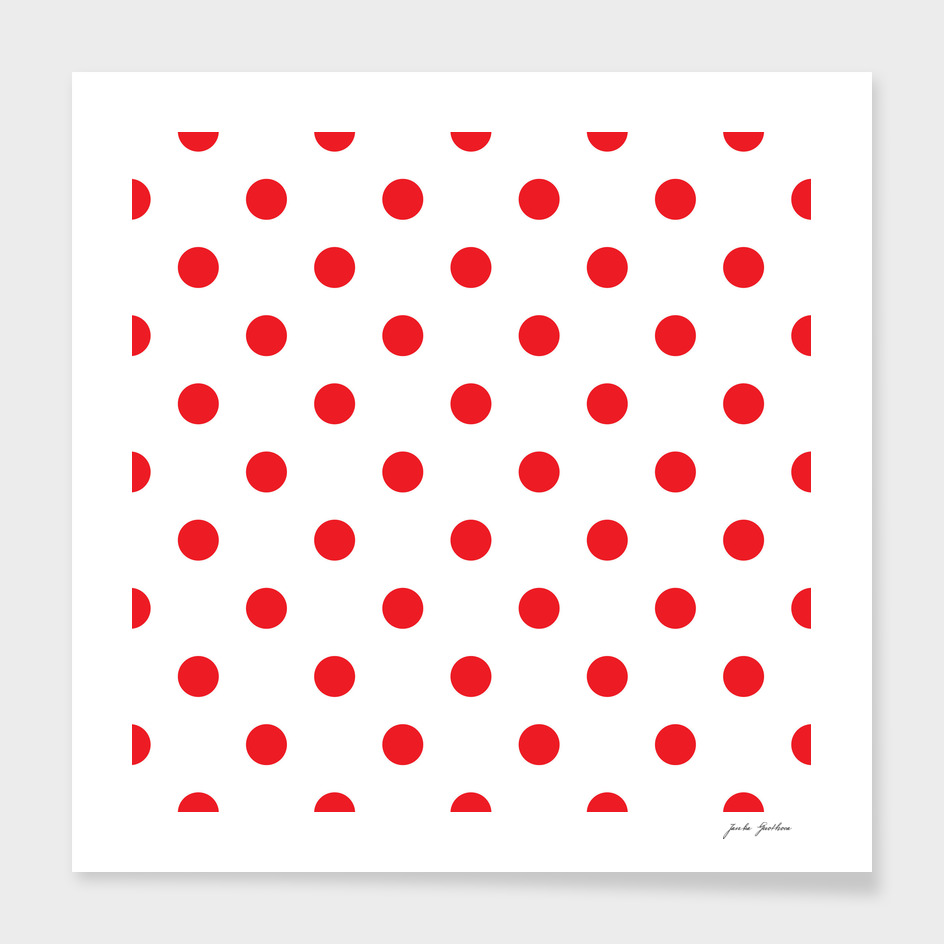 Red vintage fashion 60s Dots