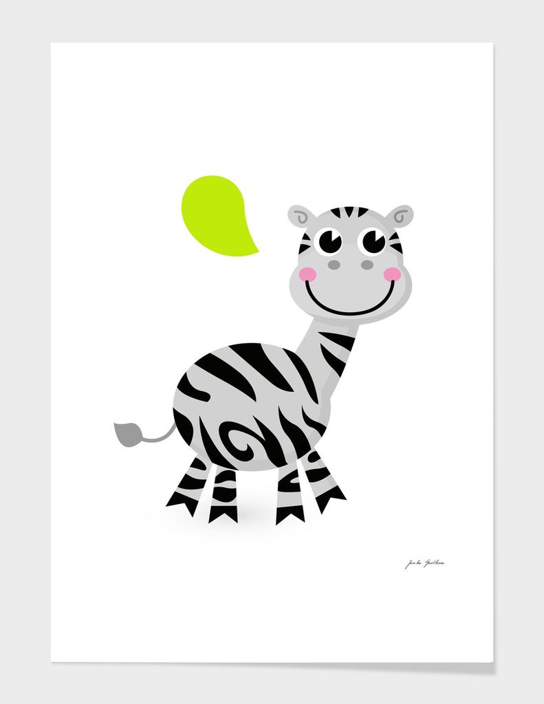 Cute handdrawn safari zebra