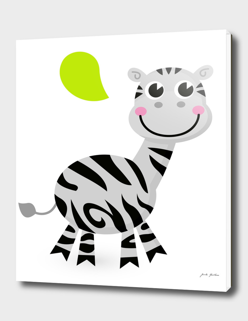 Cute handdrawn safari zebra