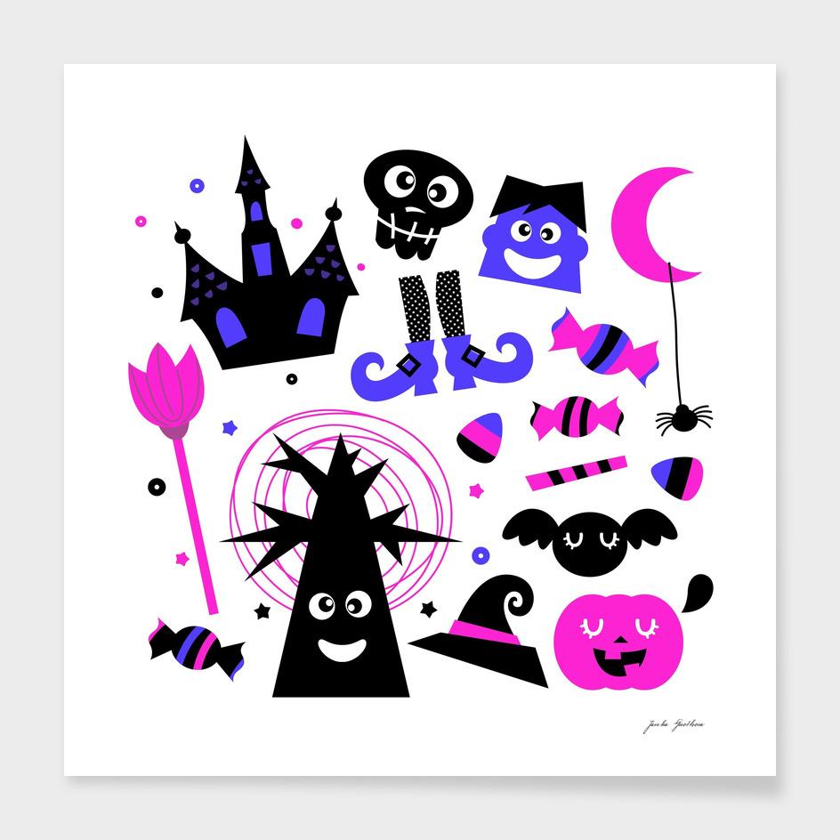 Halloween design in shop