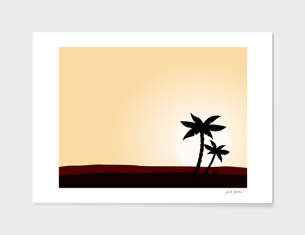 Vintage palms : Morocco art collection