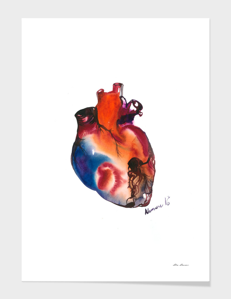 Blue Anatomical Heart