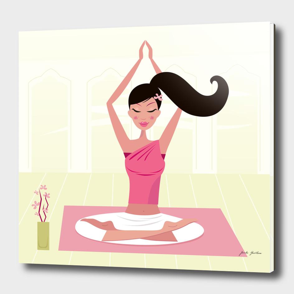 Home deco : wellness yoga girl