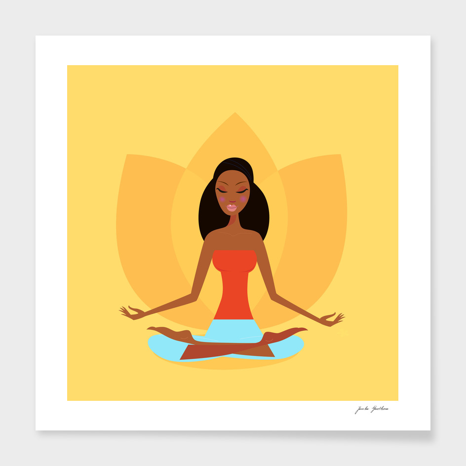 Wellness girl : making meditation / New art